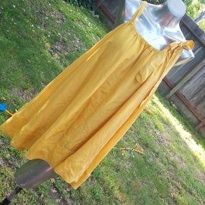 Silk yellow dress